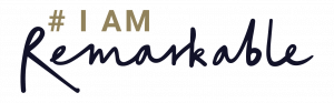 #IamRemarkable logo - its a Google initiative empowering women and other underrepresented groups to celebrate their achievements in the workplace and beyond.